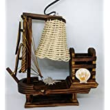 Ethnic Karigari Artefacts Beautiful Modern Art Handicrafts Showpieces For Home Decor Beautiful Wooden Lamps Ship Style | Home Decor Items And Accessories For Living Room