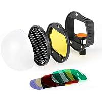 VIBLITZ® Flash Diffuser Light Softbox Speedlite Flash Accessories Kit Color Filter Honeycomb Grid Reflector Diffuser…