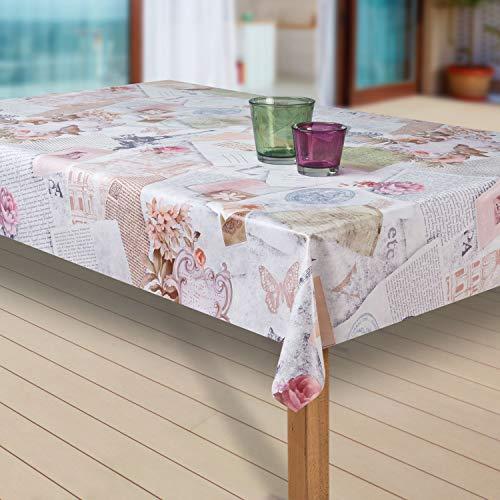 laro Wachstuch-Tischdecke Abwaschbar Garten-Tischdecke Wachstischdecke PVC Plastik-Tischdecken...