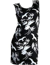 Chillytime Shirtkleid Sommer Kleid Gr 32 XS schwarz weiß Vögel