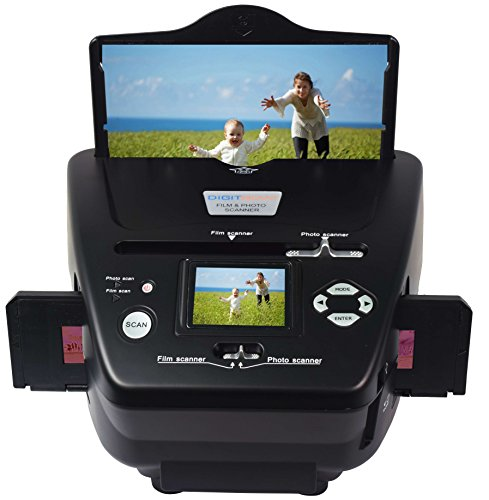 Price comparison product image DIGITNOW! 10MP Film Scanner, 35mm Negative/Slide/Photo High Resolution Scanner,Photo/Name Card/Film to Digital Converter for Save in SD Card