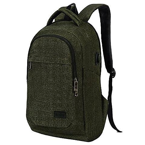 marsbro Business Reise Wasserabweisendes Polyester 39,6cm Laptop Rucksack grün armee-grün