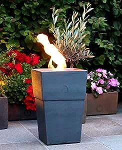 flammentopf firenze piombo bio ethanol feuerstelle aus impruneta terrakotta garten. Black Bedroom Furniture Sets. Home Design Ideas