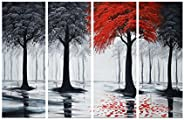 SAF Set of 4 Modern Art UV Coated Home Decorative Gift Item Panel Painting 24 inch X 36 inch
