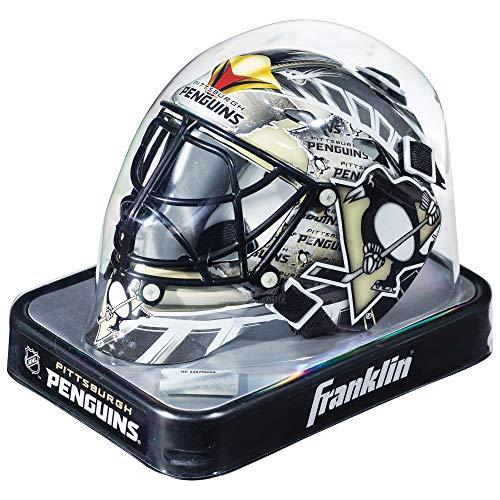 Franklin Sports Eishockey-Sammelartikel Torwart-Helm Mini, Design: Logo Einer NHL-Mannschaft, Unisex, 7784F19, Pittsburgh Penguins