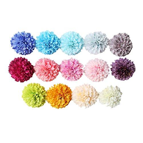 blumen Chrysantheme Seide Blütenköpfe Blumen-Köpfe Blüten Hochzeit Party Zuhause Deko - 10 Farben, 5.5cm ()