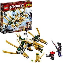 LEGO Ninjago - Dragón dorado set de ninjas creativo de juguete para construir (70666)