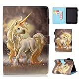 Kindle Paperwhite 4 2018 Funda,Voltear Funda Protectora para Amazon Kindle Paperwhite 4 2018 Versión (Unicornio)