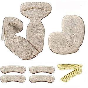 High Heels Kniepolster (10 Stück) – Fersenpolster Einlegesohlen für Fuß- und Schuheinlagen, High Heels, Anti-Rutsch-Kissen, Innensohle (Beige)