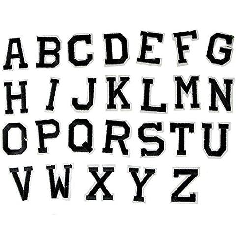 Milya kind Aufnäher Bügelbild Aufbügler Bügeleisen auf Patches Applikation 26er Englisch Alphabet-Muster für T-Shirt Jeans Kleidung Taschen zum Aufbügeln
