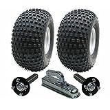 Kit de remorque ATV - Quad trailer - roues + moyeu / talon + attelage, 310kg, pneus sont 22x11.00-8 4ply P323 Wanda Knobby