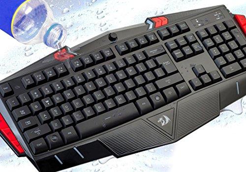 Redragon ASURA K501 USB Gaming Keyboard, 7 Color Backlight Illumination, 116 Standard Keys