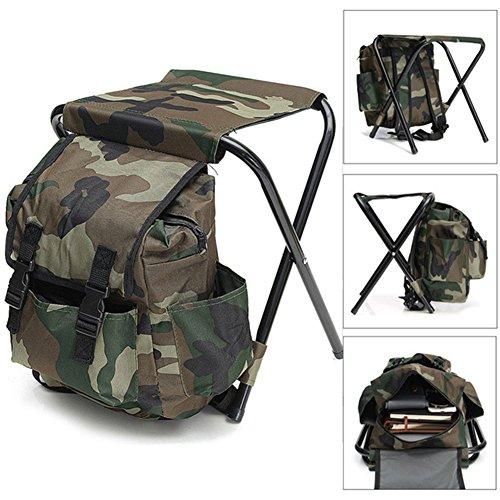 HWTP Klappstuhl, tragbare Outdoor-Camouflage-Rucksack Camping Angelzubehör
