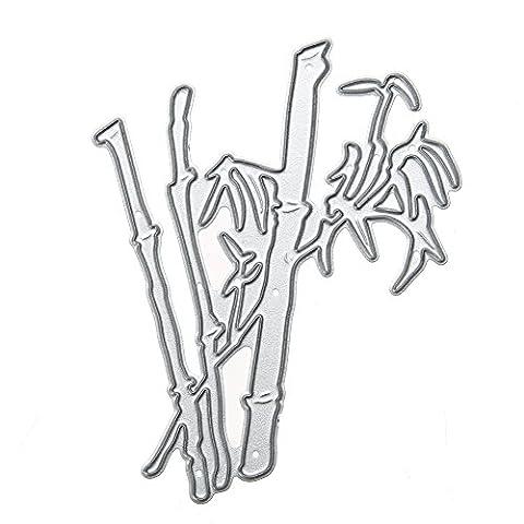 Amazingdeal365 Bambus Metall Form Schablonen Schneiden DIY Dekor Sammelalbum Karten Buchzeichen Lesezeichen als Geschenk für Freunde Geburtstag Kinder,Kindergarten Hobby Schule Handarbeit Unterricht usw. Ein tolles Geschenk!