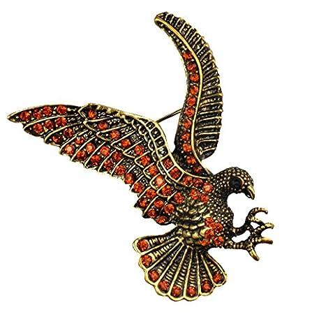 Gazechimp Antique Broche Bijoux Motif Oiseaux Pour Femme Homme Soirée Fête Conception à la Mode