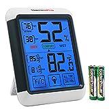 ThermoPro TP55 Termómetro Higrómetro Digital Interior, Medidor de Temperatura y Humedad Ambiental con Display LCD de Retroiluminación para Casa Habitación, Memoria Máxima / Mínima