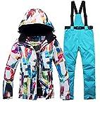 DUBAOBAO Damen Skianzüge, Winterskitouren-Campinganzüge,Wind- und wasserdichte warme Skihosenanzug, tolle Qualität