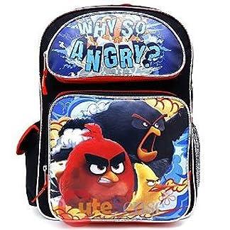 51gRkoRVhxL. SS324  - Angry Birds - Mochila Infantil Niño Negro Large