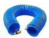 Druckluftschlauch Spiralschlauch Luftschlauch 8x12mm Schlauch 15m 7bar (8x12x15)