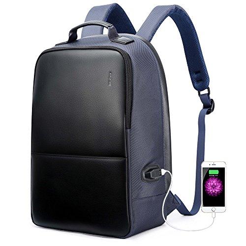 bopai negocios mochila anti robo 15.6 pulgadas portátil mochila con puerto de carga USB ciudad bolsa de Para Macbook Pro iPhone resistente al agua mochila para portátil azul azul L