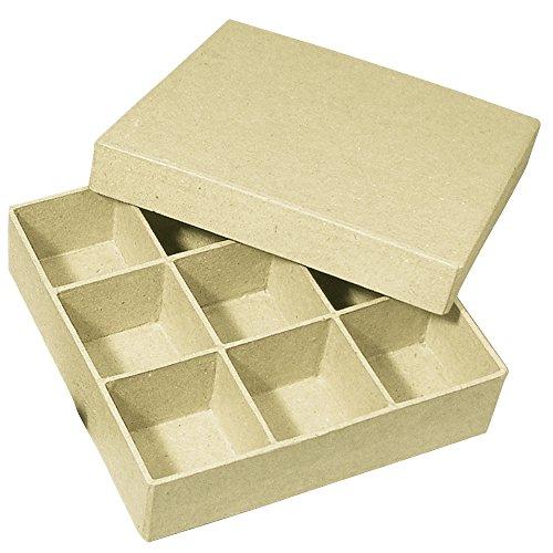 RAYHER HOBBY Rayher 71748000 Pappmaché Sortierbox FSC Recycled 100%, 14x14x3,5cm, Q