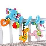 Happy cherry - Juguetes Colgantes Espiral de Animales para Cuna Cochecito Carrito bebés niños niñas arrastrar - azul
