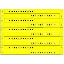 ClubKing Ltd - Pulseras de vinilo (50 unidades), color amarillo