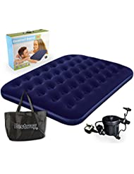 Bestway Comfort Quest Double Flocked Air Bed With Pump by Bestway