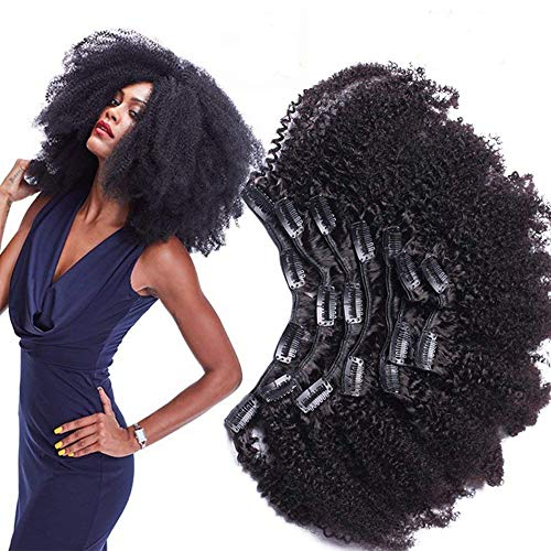 Morningsilkwig Afro Kinky Curly Clip Extensiones