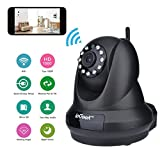 ieGeek 1080P Home IP Camera Wireless WiFi Indoor Video Monitoring Security Surveillance Pan/Tilt Camera with Night Vision Two-Way Audio Motion Detection (Black)