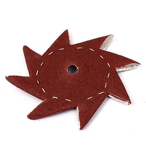 Preisvergleich Produktbild DealMux 3,5-Zoll 320 Grit Windrad geformte Schleifblatt Schleifen Buffing Werkzeug