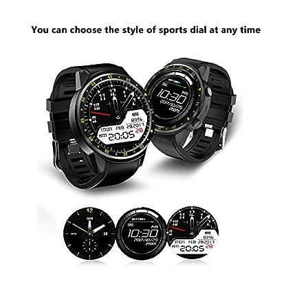 Lixada Pantalla Táctil Inteligente Reloj GPS Digital Reloj de Pulsera