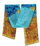 Prettystern - opera d'arte print 160 cm dipinto van Gogh sciarpa di seta van Gogh - Campi di grano
