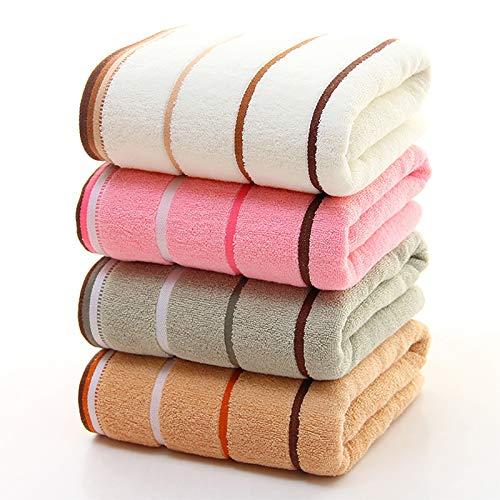 Qrity 4 X Handtücher -Badetuch-Gästehandtücher aus 100% Baumwolle Größe 35x75cm Schnelltrocknend Weiche Atmungsaktive Absorbierende 4 Farben