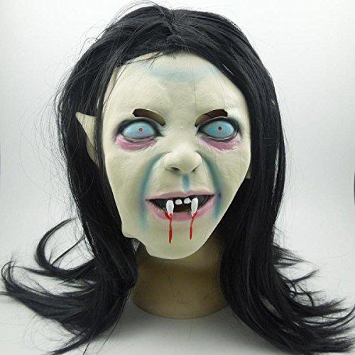 or Angst Schwarzes Haar Zombie Horror Latex Make-up Requisiten Lustig Beängstigend Parodie (Lustig, Beängstigend Masken)