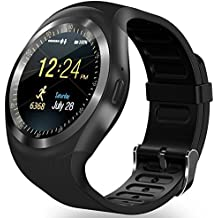 Bluetooth Smart Watch Reloj Inteligente zkcreation, Classic Ronda de IPS pantalla táctil impermeable Smartphone con tarjeta SIM, Fitness Tracker, podómetro Compatible con teléfono Android y iOS