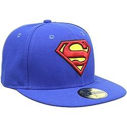 New Era Character Basic Superman - Gorra para hombre, color azul, talla 6 7/8