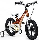 Royal Baby 35,6cm MG Dino Kinder Kinder Bike–leicht Magnesium Rahmen–Stabilisatoren–Ständer., gold