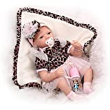 NPK 22 Inch Realistic Soft Silicone Reborn Baby Doll Fake Babies Real Life Like Vinyl Newborn Dolls Free Magnet Pacifier by NPK Collection