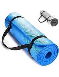Colchón para Fitness y Gimnasia Premium Techfit, Espesor Extra de 15 mm, 18 x 60 cm, Ideal para Ejercicios en el Suelo, Camping, Yoga, Estiramientos, Abdómenes, Pilates (azul)