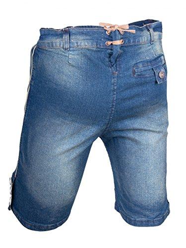Almwerk Herren Trachten Jeans Lederhose kurz Modell Platzhirsch, Farbe:Blau;Lederhose Größe Herren:58 - 3