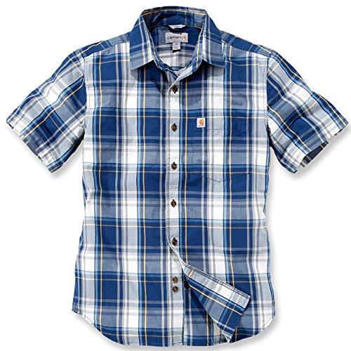 Carhartt Workwear Arbeitshemd Arbeitsshirt - Slim Fit Plaid Shirt - Dark Cobalt Blue (XL)