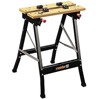 Meister Werkzeuge 9079100 caballete Acero Plegable 1 pieza(s) – Caballetes (100 kg, Acero, Negro, GS/TÜV, 170 mm, 1 pieza(s))