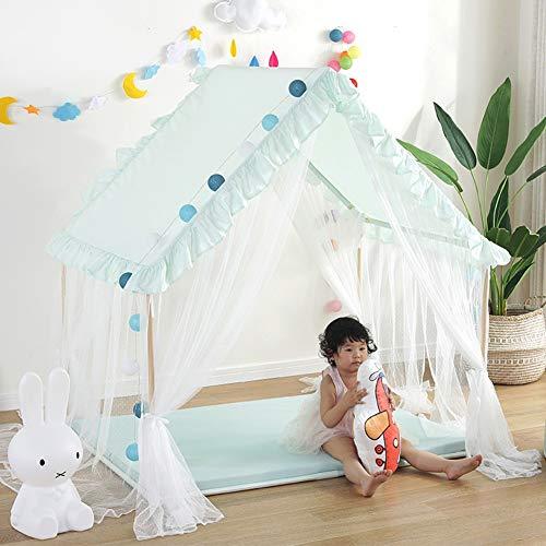 YJYRCYJLH Kinderzelt Spielhaus, bequem und komfortabel Platz (das Produkt enthält Keine Matten und Lampen),Green