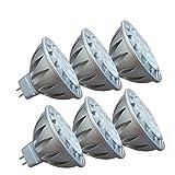 LED GU5 3 MR16 12V Lampen 7W Warmweiss, AlideTech Led Spot Strahler 50W Halogenlampen Ersetzt, 50mm Durchmesser, Warmweiß 2700K, GU5 3 Sockel, 560LM, 38 Grad, 6er Pack