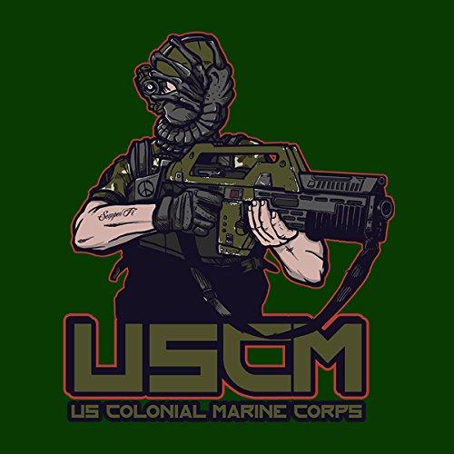 Colonial Facehugger Aliens Women's T-Shirt Bottle Green