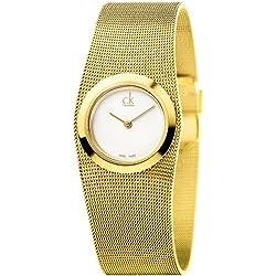 Calvin Klein K3T23526-Reloj de Pulsera, Acero Inoxidable, Color Dorado