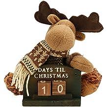 Muñecas Decoración de año nuevo, FindaGift Linda Reno Decro Doll con Año nuevo Countdowm,