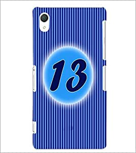 PrintDhaba Numerology Number 13 D-2569 Back Case Cover for SONY XPERIA Z3 (Multi-Coloured)