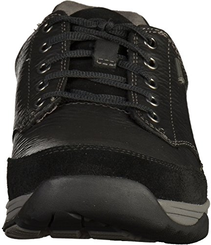 Clarks Herren Baystonego Gtx Brogues Schwarz (Black Leather)